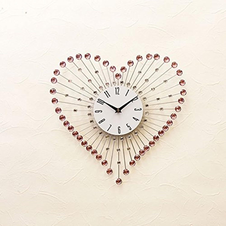 掛け時計 デザイン キラキラ ウォールクロック ハート:int-ak-ygz2478