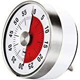 Myle Mechanical Kitchen Timer – Premium Precision Timer with Loud Alarm Sound 60 Minutes countdown, can be easily placed with Magnetic Backing, Hang Hole and Foldable Stand- Perfect for Cooking, Baking, Sport, Studying, Facial and Office.
