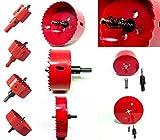 選べる ホールソー 22サイズ(50mm~155mm) インパクトドライバー 電動ドリル ボール盤 対応 木工 塩ビ プラスチック アクリル 発泡スチロール 用 穴あけ 道具 器具 (105mm)