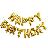 Langxun Gold Foil HAPPY BIRTHDAY Balloons Banner for Birthday Party Supplies and Birthday Decorations