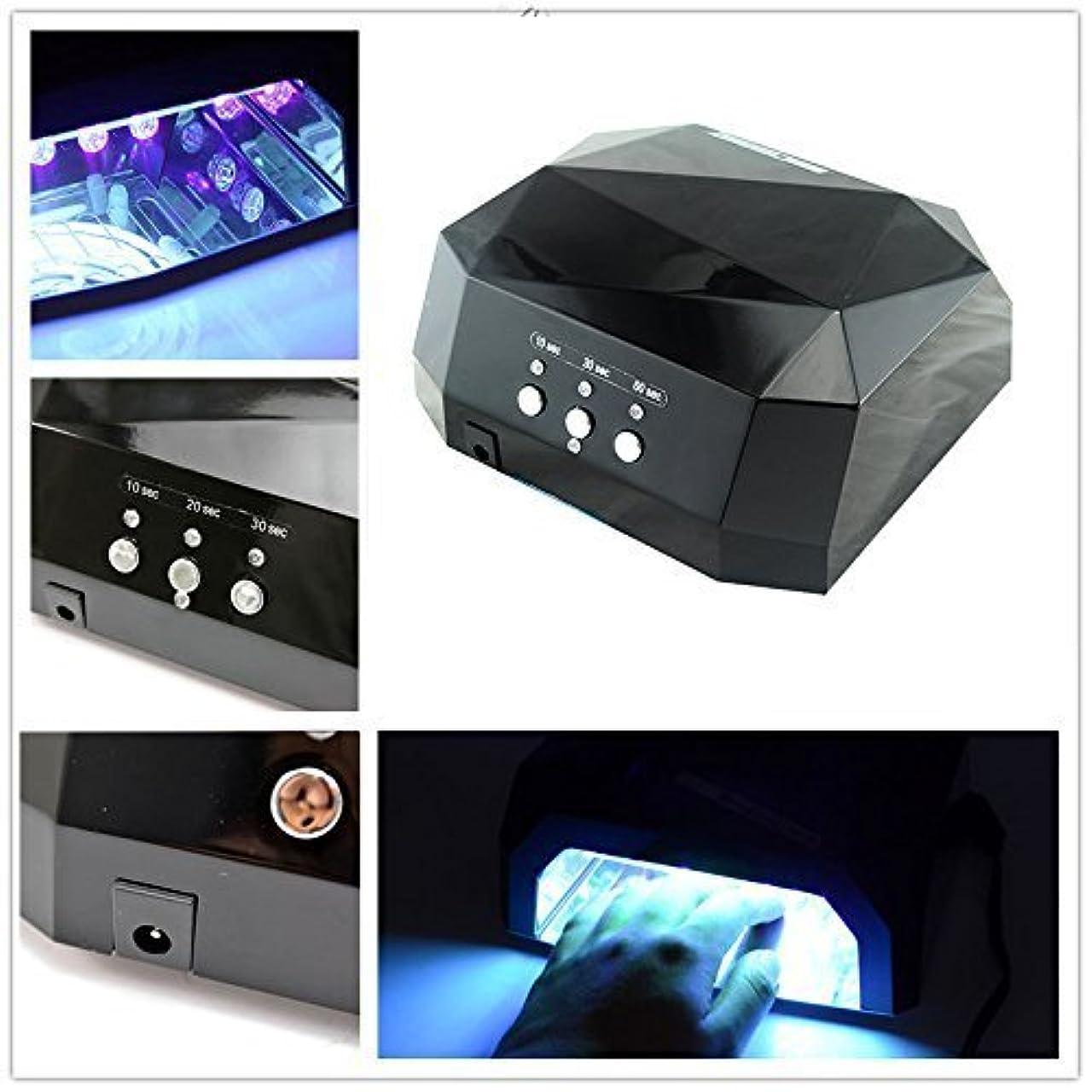 冒険再生可能ダイヤモンドGearmax®CCFL&LED ライト 36W ハイパワー ネイルライト ブラック