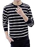 (クラベルテ) crbelte ボーダー柄 長袖 Tシャツ 男女兼用(15_XL(ファインブラック))
