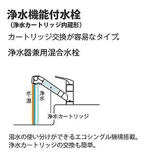 TOTO キッチン用水栓 浄水器内蔵形 キッチンシャワー TKGG38E1 (標準カートリッジ)