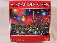 Alexander Chen 1000 Piece Jigsaw Puzzle: Eiffel Tower