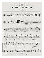 ミュージカル表記のビジュアルガイド A Visual Guide To Musical Notation silk fabric poster シルクファブリックポスター 44cm x 33cm