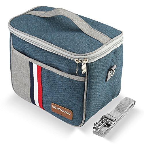 OMASI ランチバッグ 保冷バッグ 保温バッグ お弁当箱 クーラーバック 5.6L お弁当袋 (绀 ) 敬老の日プレゼント