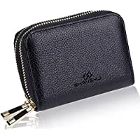 SHANSHUI RFID Blocking Primely Genuine Leather Credit Card Wallet for Women