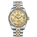 Rolex Datejust 31シャンパンRaised Floral Motif dial18Kイエローゴールドレディース時計178273