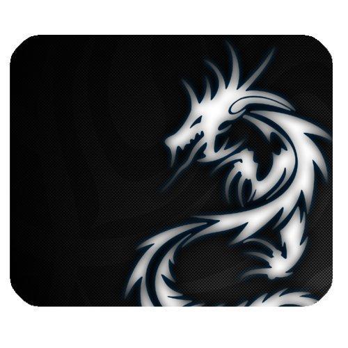 122b90a68e088 Cool Design White Dragon Black Background Rectangle Mouse Pad Gaming  Mousepad by Dragon Mousepad