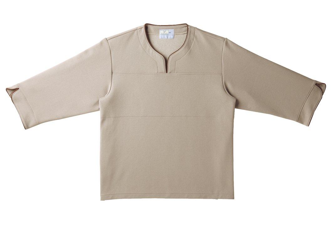 キラク 検診用シャツ LL CR841-28-LL 検査衣/患者衣 取寄品