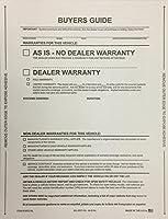 Buyer 's Guide As is- no保証、NO Lines、100個( w34)
