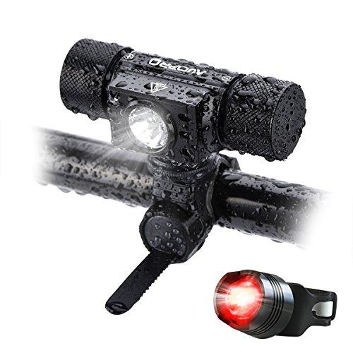 AUOPRO 自転車ライト 500ルーメン LEDヘッドライト 超高輝度 IP65防水 5モード USB充電式 CREE XPG2-S3 アウトドア専用 ロードバイクライト 防災 防錆