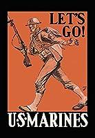 Buyenlarge '行こう!アメリカ海兵隊の紙のポスター、20 x 30インチ