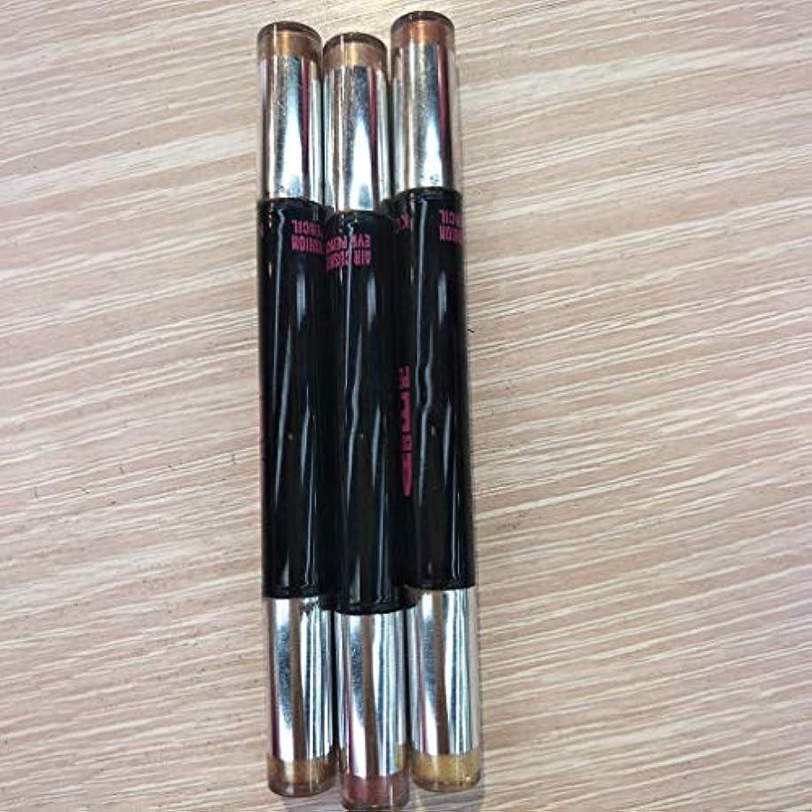 ほかに知覚的健全ダブルヘッドアイシャドウスティックナチュラルエアクッショングリッターアイシャドウペンメイク鉛筆化粧品のツールを長持ち