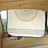 VIYOR 車用カーテン 日よけ 後部座席 車窓サンシェード 可愛い UVカット カーテン ボヘミア
