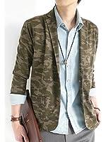 (モノマート) MONO-MART ポンチ素材 テイラード ジャケット テーラード JKT ブレザー スプリング きれい目 モード 爽やか デザイナーズ 柄 カラー メンズ