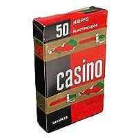 スペイン語Deck Playing Cards CatalanスタイルカジノJustoローデロアルゼンチンNaipes レッド