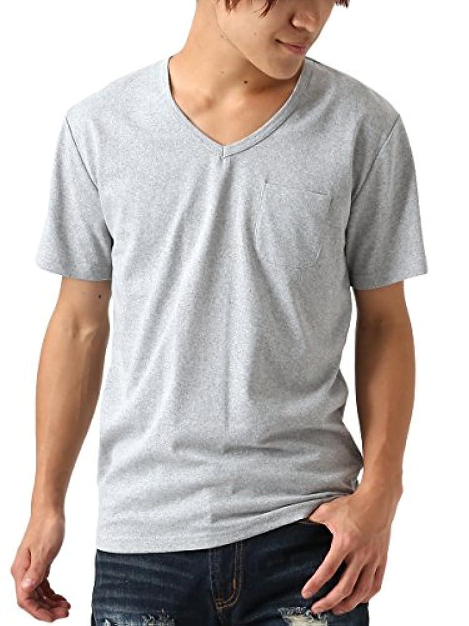 シャンプー高音サルベージ[REPIDO (リピード)] 半袖Tシャツ メンズ 半袖 Tシャツ Vネック インナー コットン
