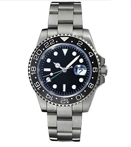 NOLOGO ノーロゴ サファイアガラス自動巻GMT 腕時計 メンズ 553S4AS (並行輸入品)