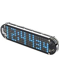 KKmoon DS3231 高精度 DIY デジタル時計キット 目覚まし時計キット LED 透明ケース 温度 日付 時間表示