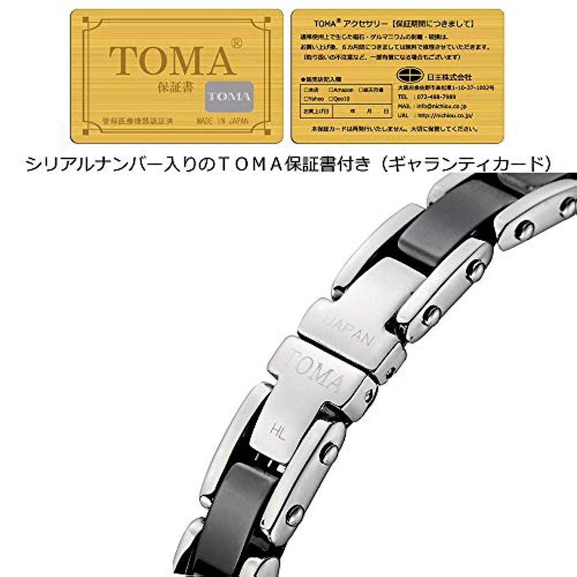 金曜日韓国語砂TOMA12M(シルバー×黒セラミック)磁気?ゲルマブレスレット 保証書(ギャランティカード)付き