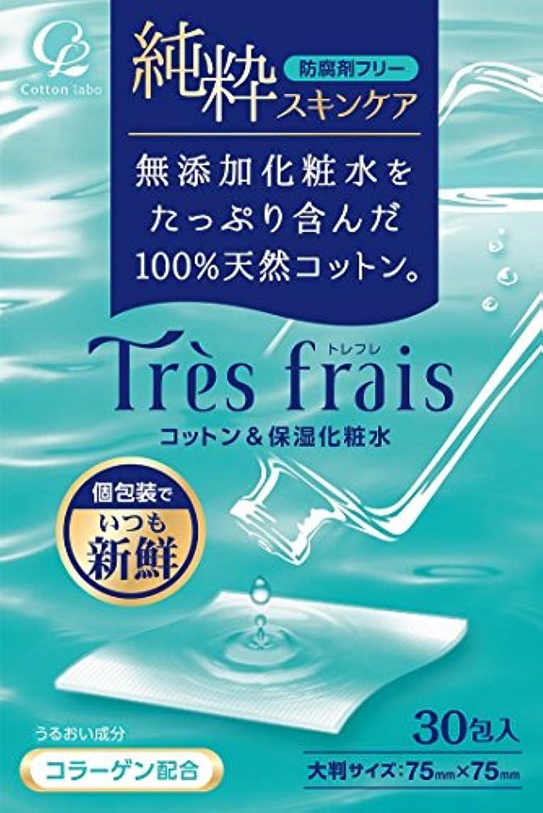 解体する実験をする解体するトレフレ コットン&保湿化粧水 30包