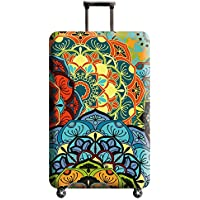 """Xinvivion Thicken Anti-Scratch Luggage Cover Protector Kaleidoscope Pattern Suitcase Cover (NOT SUITCASE) Suitable for 18""""-32"""" (Size S/M/L/XL)"""