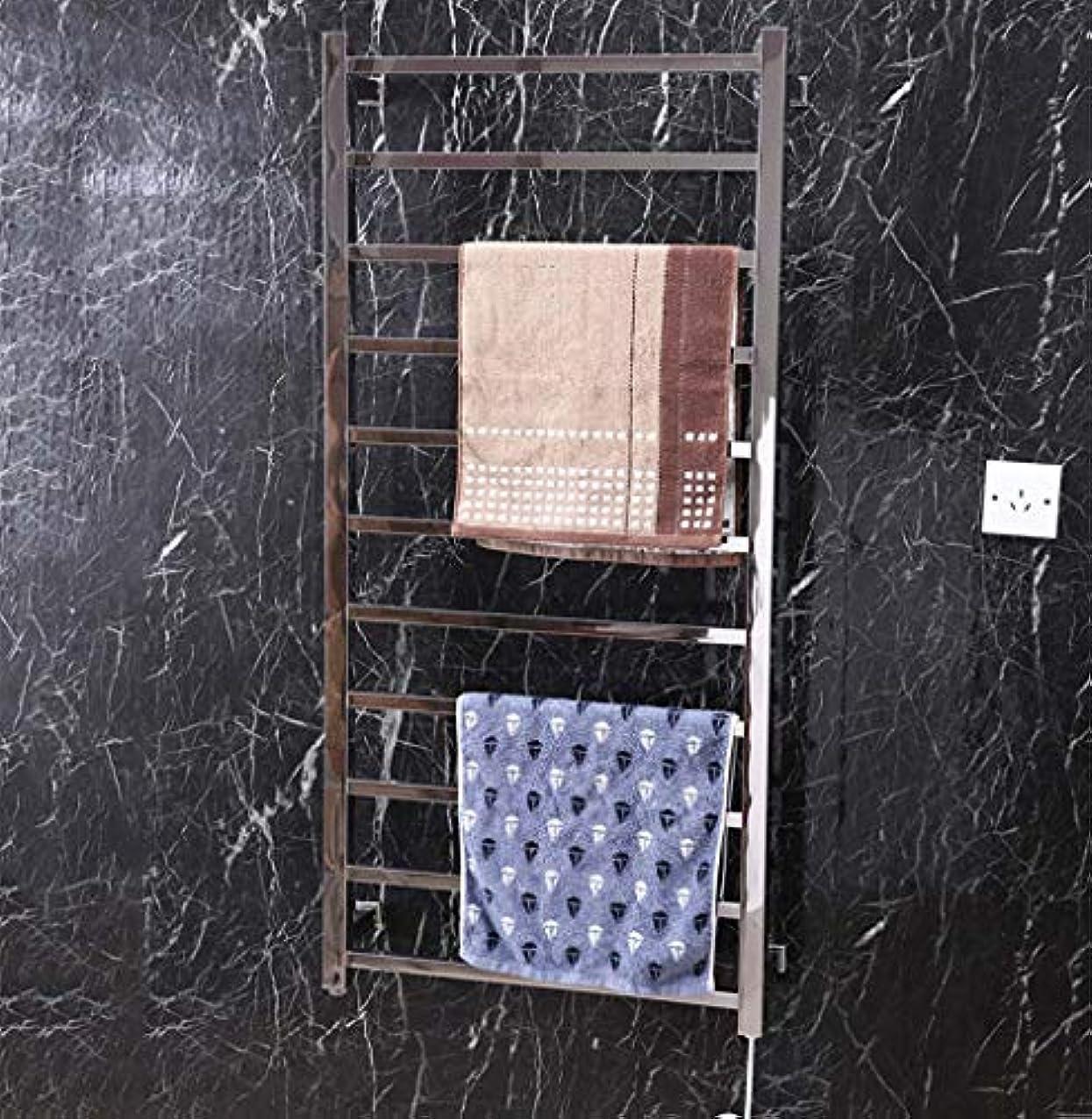 谷撤回するヘロイン壁掛け式電気タオルウォーマー、304ステンレススチール製インテリジェント電気タオルラジエーター、サーモスタット滅菌、浴室棚1200X560X125mm