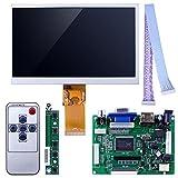 Kuman 7インチ Raspberry Pi適用 ラズベリーパイ HDMI出力 VGAポート 2AV 1024*600解像度 液晶パネル ディスプレイ+コントロール基板+リモコン Raspberry Pi Model Pi2 Pi3 も適応 SC7I
