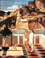 手描き-キャンバスの油絵 - Sacred allegory ルネッサンス Giovanni Bellini 芸術 作品 洋画 ウォールアートデコレーション -サイズ08