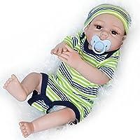 リボーンベビードール新生児現実的なシリコンビニール手作りベビードールソフトシミュレーション生きた磁気口の子供ギフトは洗うことができます