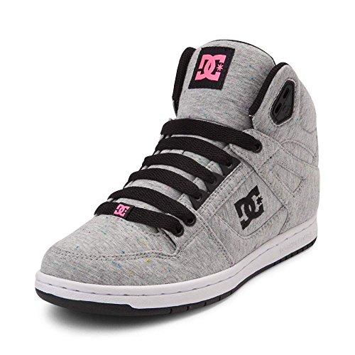 (ディーシー) DC 靴・シューズ レディーススケートシューズ Womens DC Rebound Hi Skate Shoe Gray/Black/Pink グレー/ブラック/ピンク US 7 (24cm)