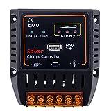Anself 10A/20A「選択可」 12V/24Vソーラーパネル バッテリー充電コントローラ USB出力 オートレギュレータシステム 過充電保護付き