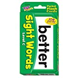 Trend Enterprises ポケットサイズ フラッシュカード (子供向け英単語 学習カード) サイトワード (目で見て学ぶことば) レベルC