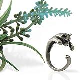 キャット リング 抱きつき 猫(B) 【フリーサイズ 指輪 男女兼用 ペアリング 対応】 サイズ 8号~14号 猫が指に抱きつくようなデザイン