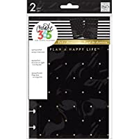 (Black W/Gold Dot) - Happy Planner Mini Snap-In Hard Planner Cover 19cm x 14cm
