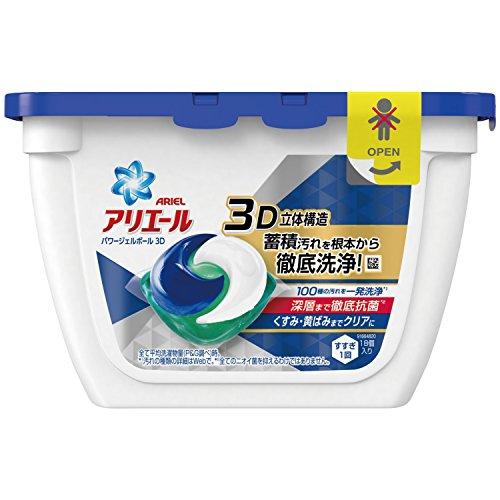 アリエール 洗濯洗剤 パワージェルボール3D 本体 18個入