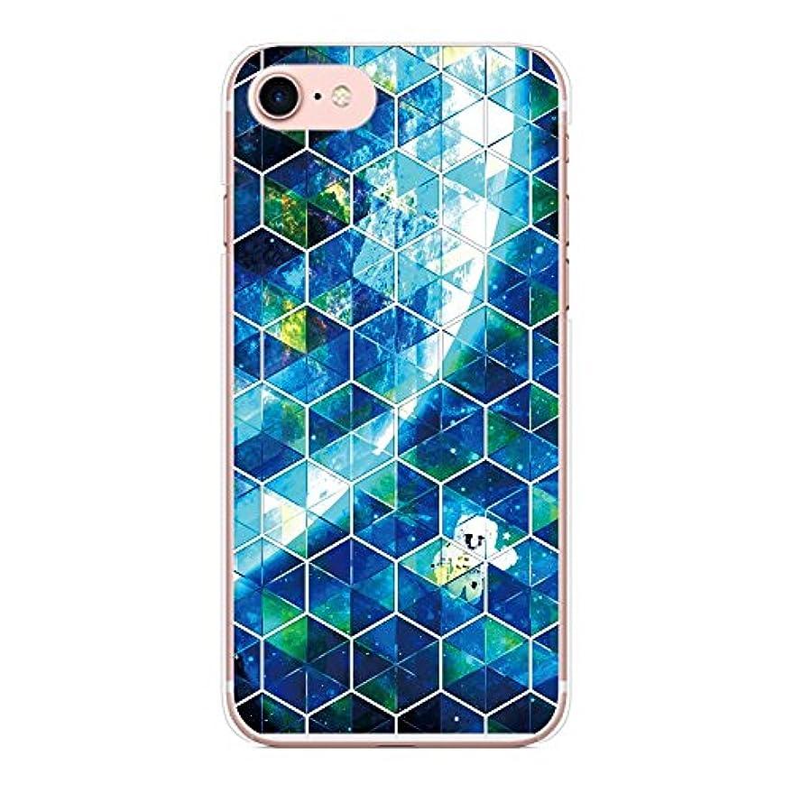 救出芸術社会+S iPhone XR ケース ステンドグラス風 幾何学 六角形 【09.宇宙】 ハード カバー クリア オリジナルデザイン