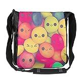 Patagonia バッグ Rochelle AyokoメンズレディースメッセンジャーバッグSmileキャンディSingle Shoulderバッグconveniencebookbagを旅行ショッピング学校 One Size ブラック M406-bags-15988291