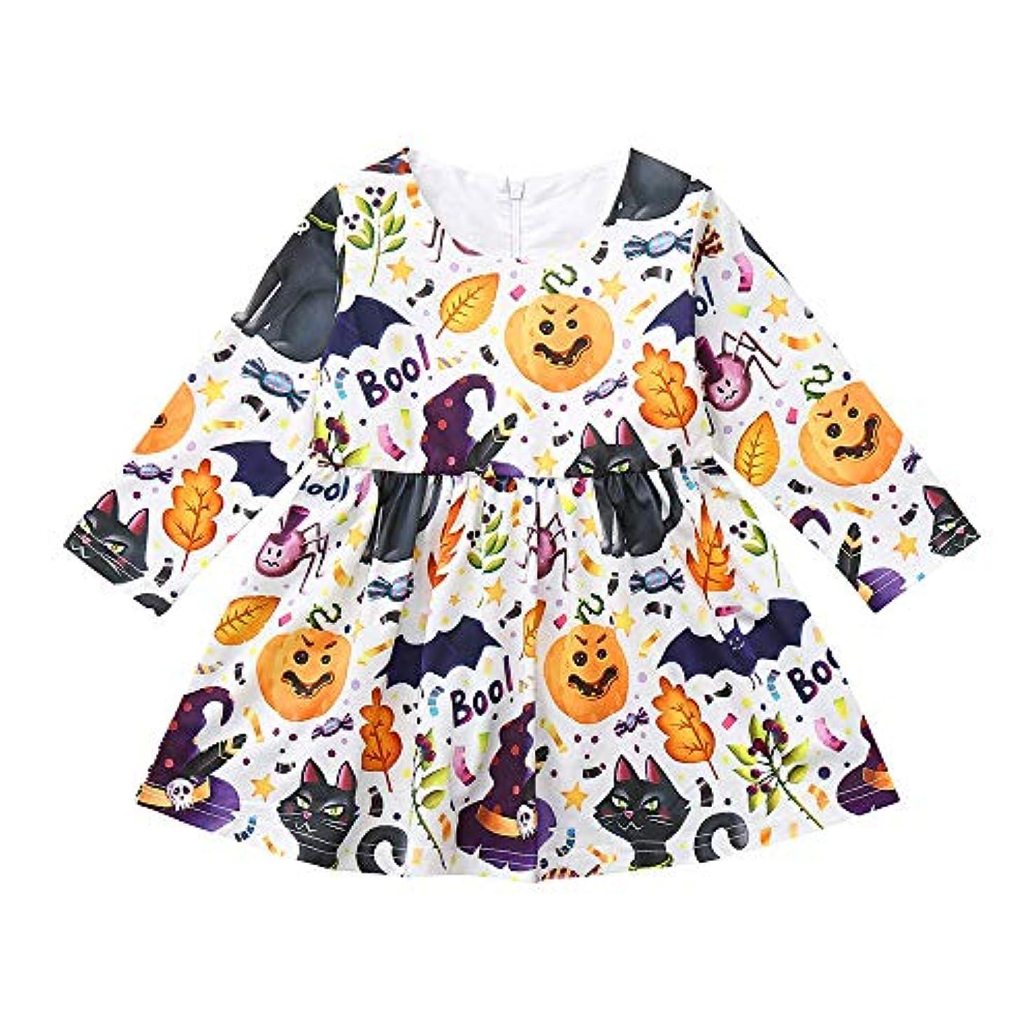 入浴処方する剥ぎ取る(プタス) Putars 幼児の女の子の漫画のプリント動物のパーティーのドレスハロウィンの衣装の衣装 12ヶ月 - 4 歳