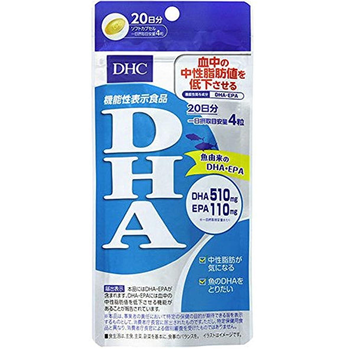 句読点死出身地DHC DHA 20日分 80粒 【機能性表示食品】