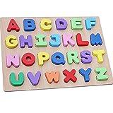 Best アルファベットのおもちゃ - WONZOM 積み木 パズル アルファベット 知育 玩具 幼児 子供 Review