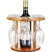 Anberotta 木製 ワインホルダー ワイングラス ホルダー ラック シャンパン ボトル スタンド インテリア ディスプレイ W47 (Aタイプ)