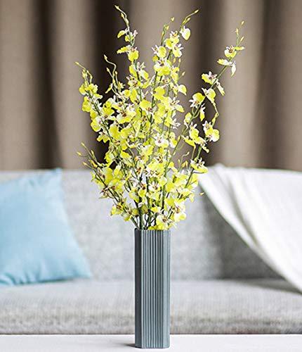 RoomClip商品情報 - 花器 セラミック花瓶 北欧 生け花 装飾品 陶器 シンプルなデザイン フラワーベース インテリア飾り (8*8*27) (黑 004)
