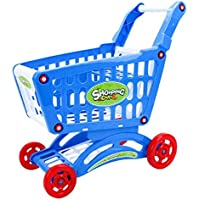Xiang Ru ショッピングカート 子供 おもちゃ おままごと 手押し車 知育玩具 プレゼント 誕生日 買い物のゲーム スーパーマーケット ショッピングカートだけ ブルー