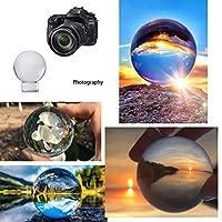 水晶魔法の球ガラスの装飾的な球、写真撮影のための60mm / 80mmの芸術の装飾K9水晶支柱