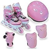 RIP SLIDE(リップスライド) アジャスタブルインラインスケート5点セット ピンク Mサイズ