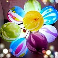 Jiokuy 光る 風船 LED ライト 玛瑙 バルーン 15本誕生日 パーティー バレンタインデー 適用 H型 クリップ リボン付き