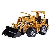 RC 5チャンネル ショベル トラクター 掘削機 グラップル仕様 多機能 フラッシュ リモートコントロール 工事トラック グラップル仕様 USB充電 砂場 建設車両 モデル 子供 玩具