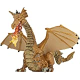 Papo Gold Dragon with Flame Figure, Multicolor